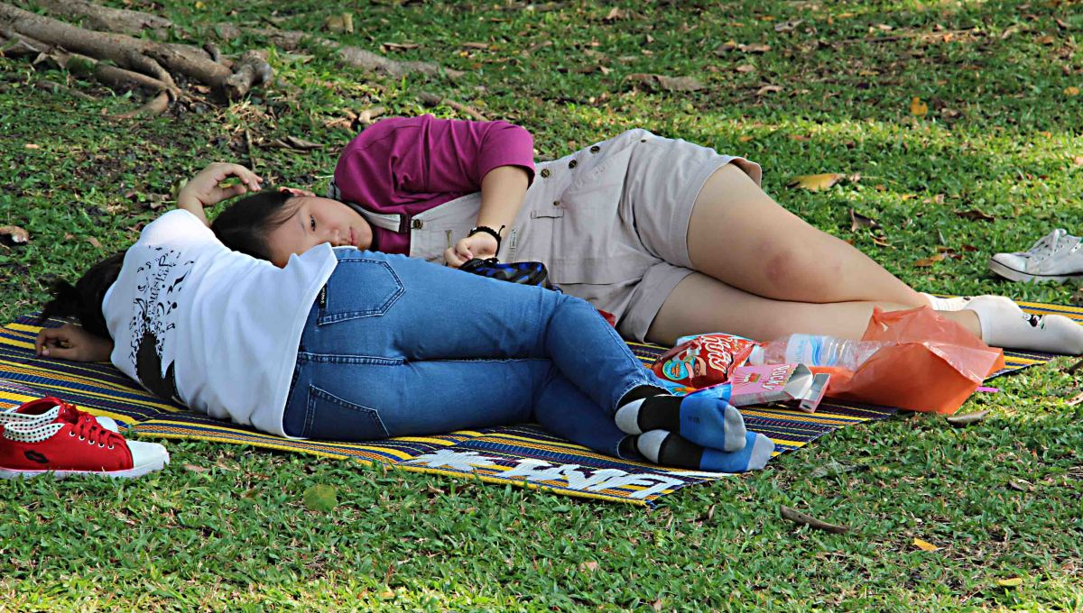 Too hot to do anything but laze around in Chatuchak Park