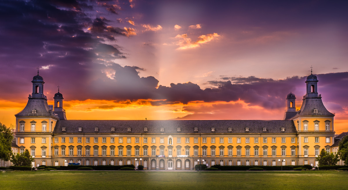 The University of Bonn, less than four miles from DAAD's headquarters.