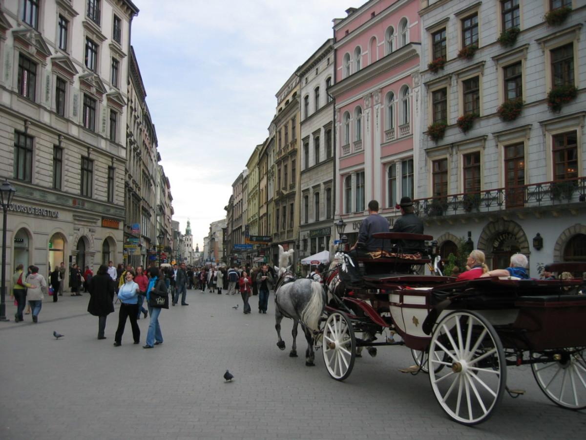 Horse and carriage in Rynek Główny, Kraków