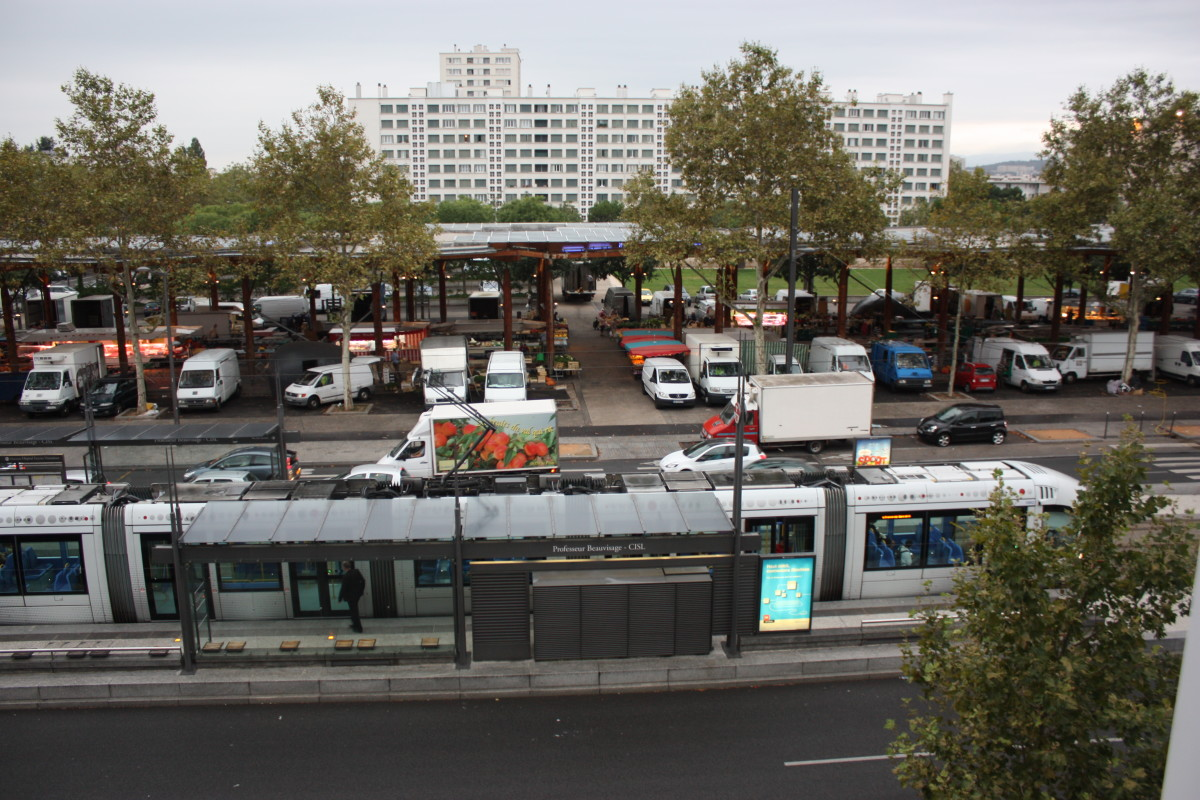 Some metros are above ground. This one in France stops right by the farmers market.