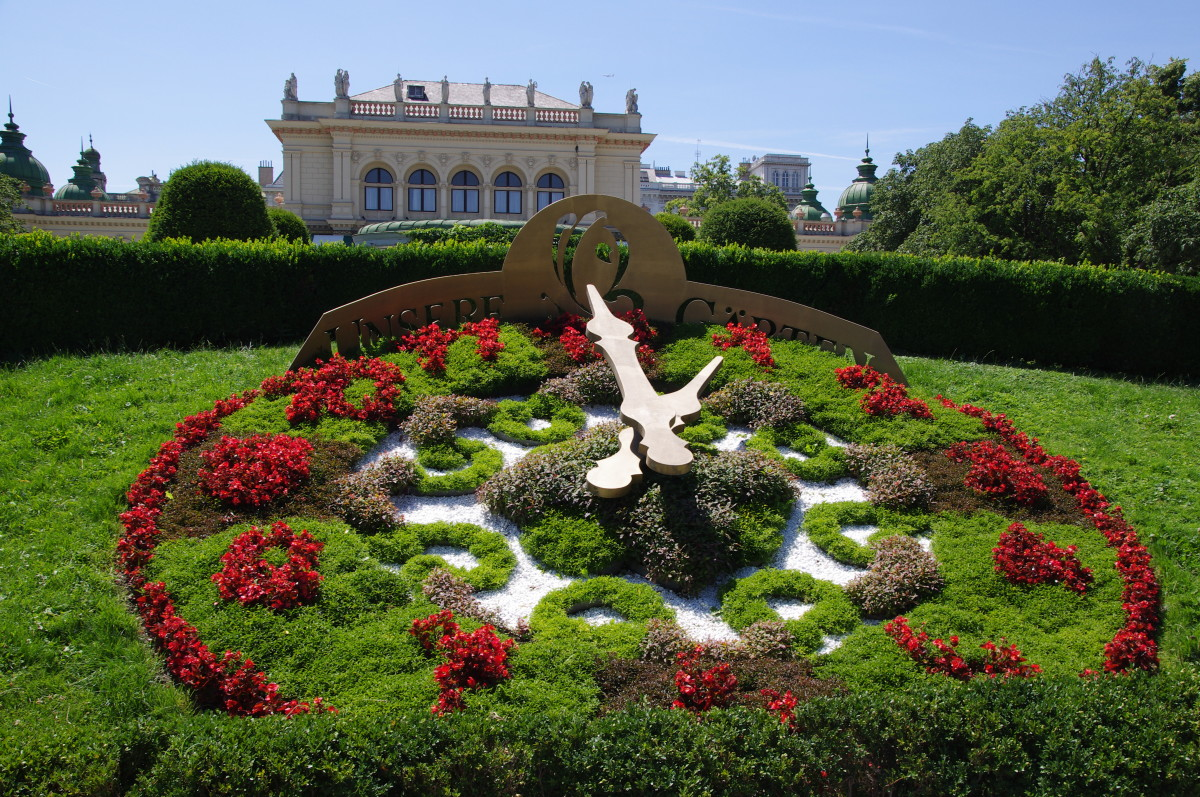 Flower Clock in Stadtpark