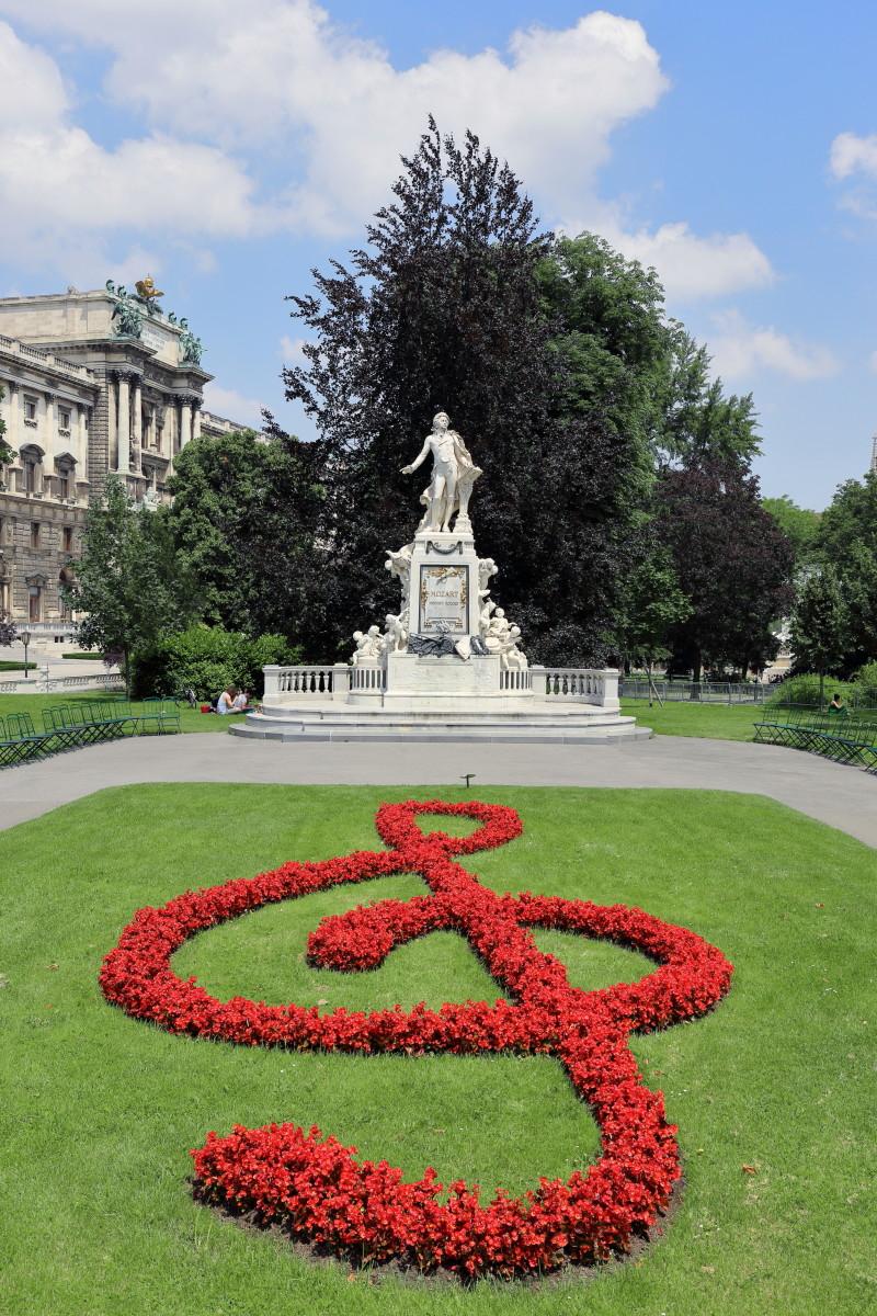 Mozartdenkmal in Burggarten