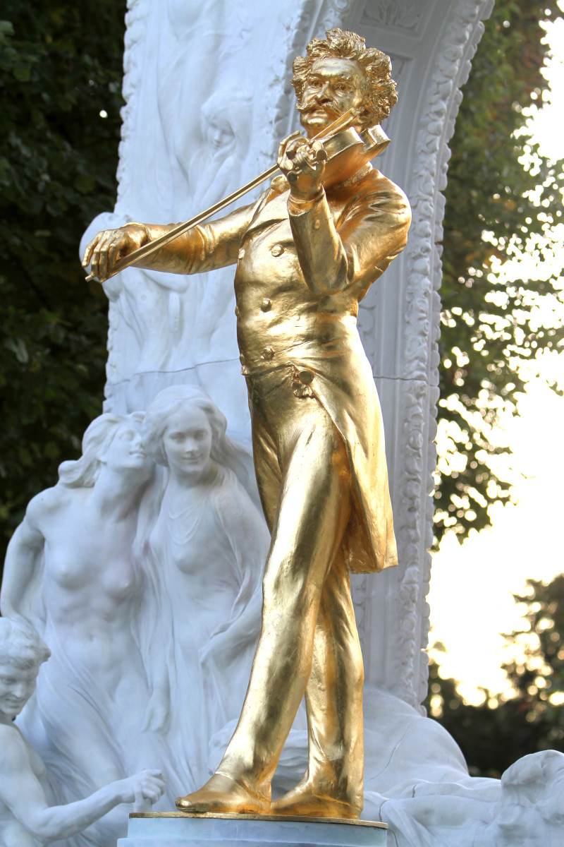 Johann Strauss Monument in Stadtpark