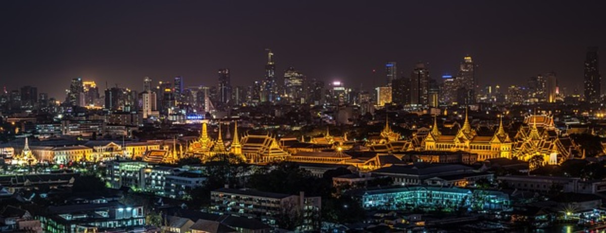 The Bangkok Skyline at Night