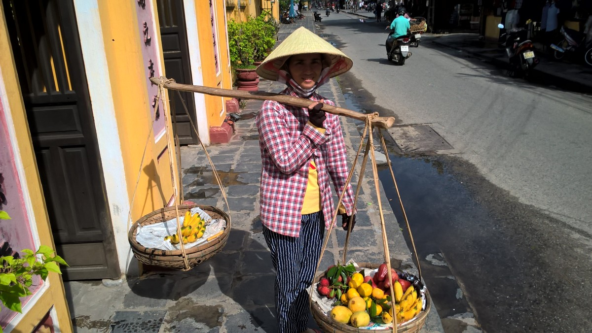 A typical street vendor.