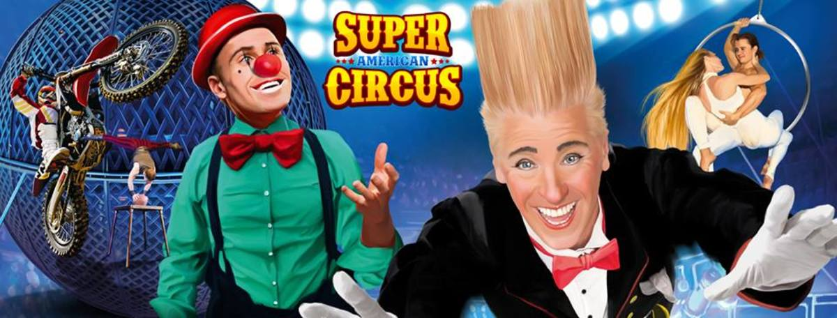 The Super American Circus, starring comic daredevil Bello Nock!