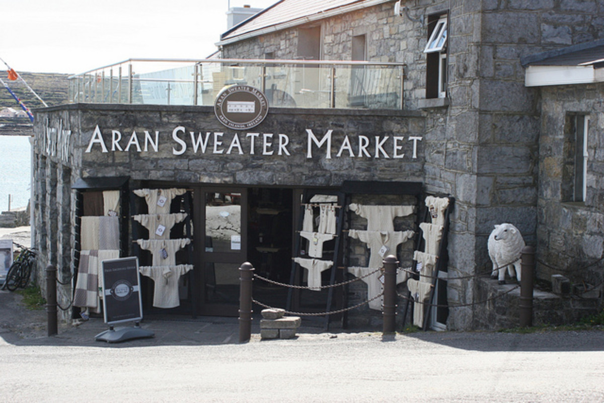 Aran sweater was the only souvenir I wanted to bring back home from our trip.