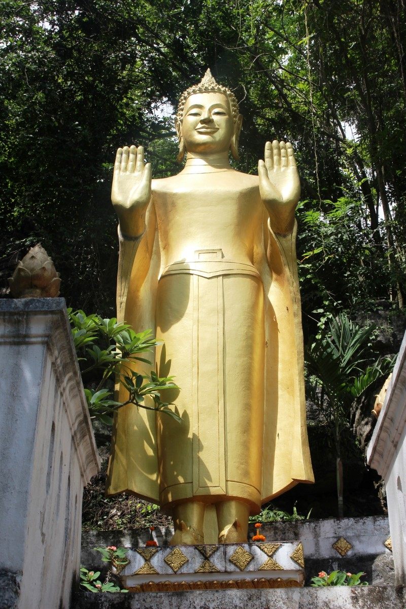 Golden Buddha on Mount Phu Si