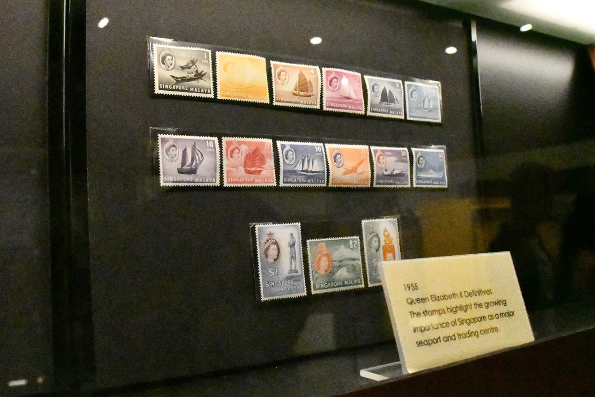 British Malayan stamps from 1955.