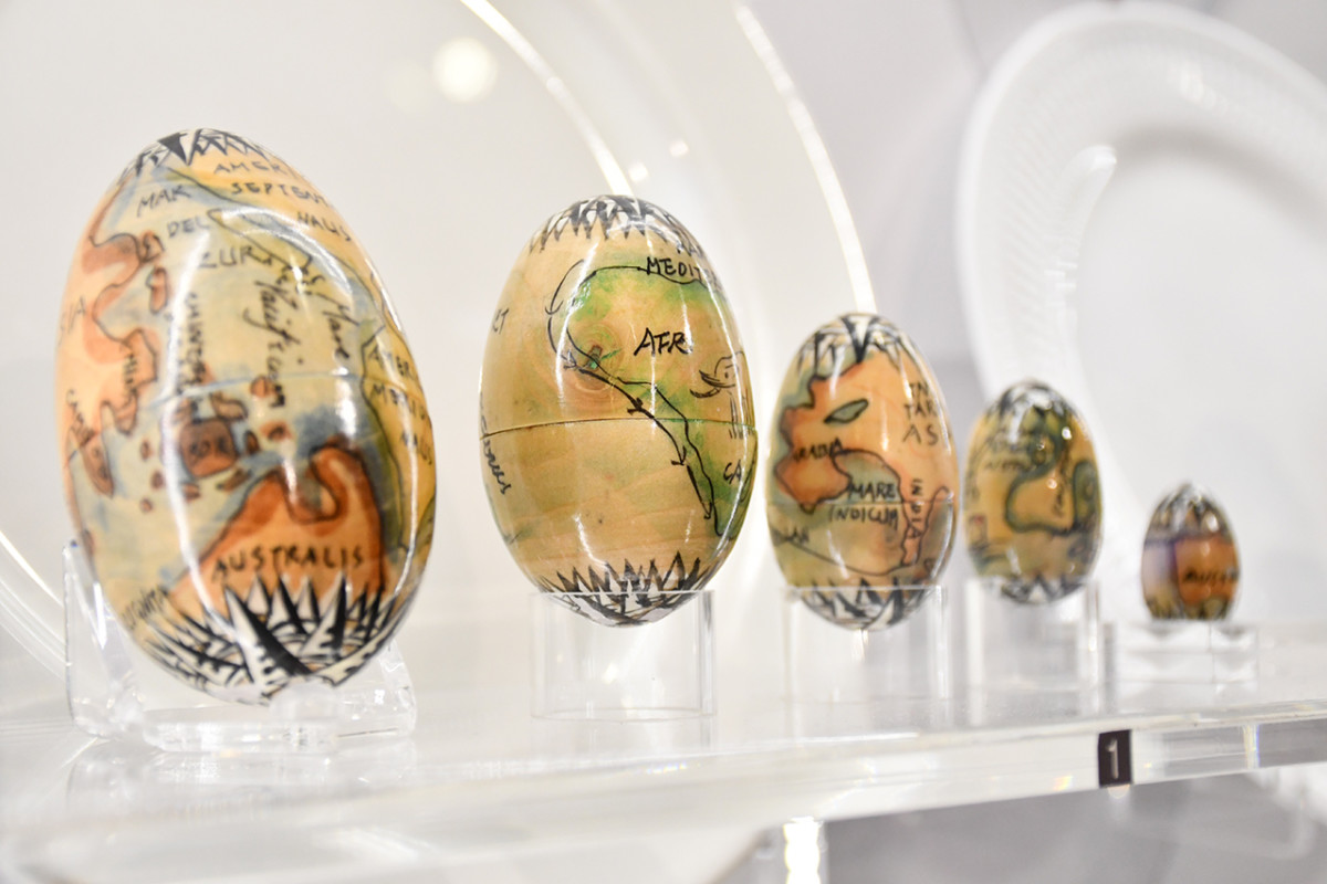Precious eggs on display during the Precious Eggs: Of Art, Beauty and Culture temporary exhibition.