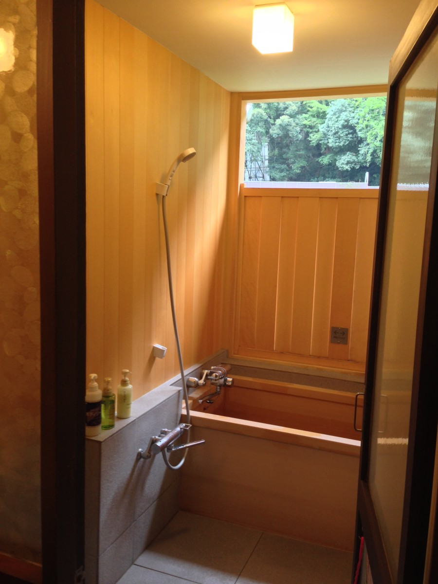 If you're lucky/loaded, you will have a private onsen bathtub in your room with real hot spring water on tap.