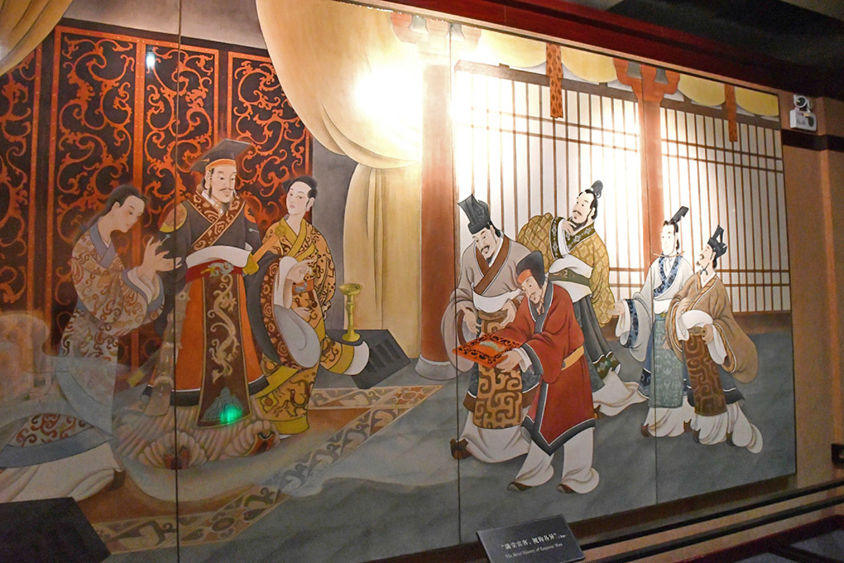 Painting depicting the court of the Nanyue King.