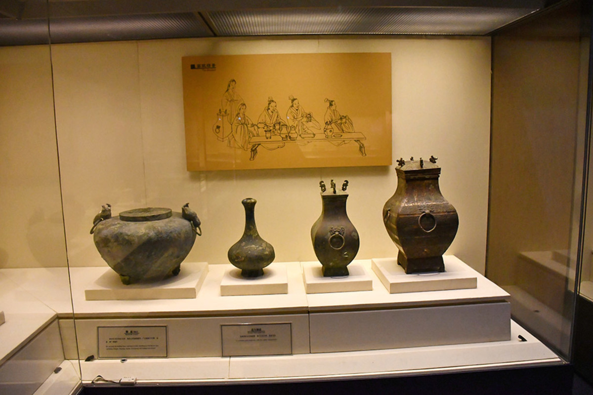 Ancient Chinese banquet urns.