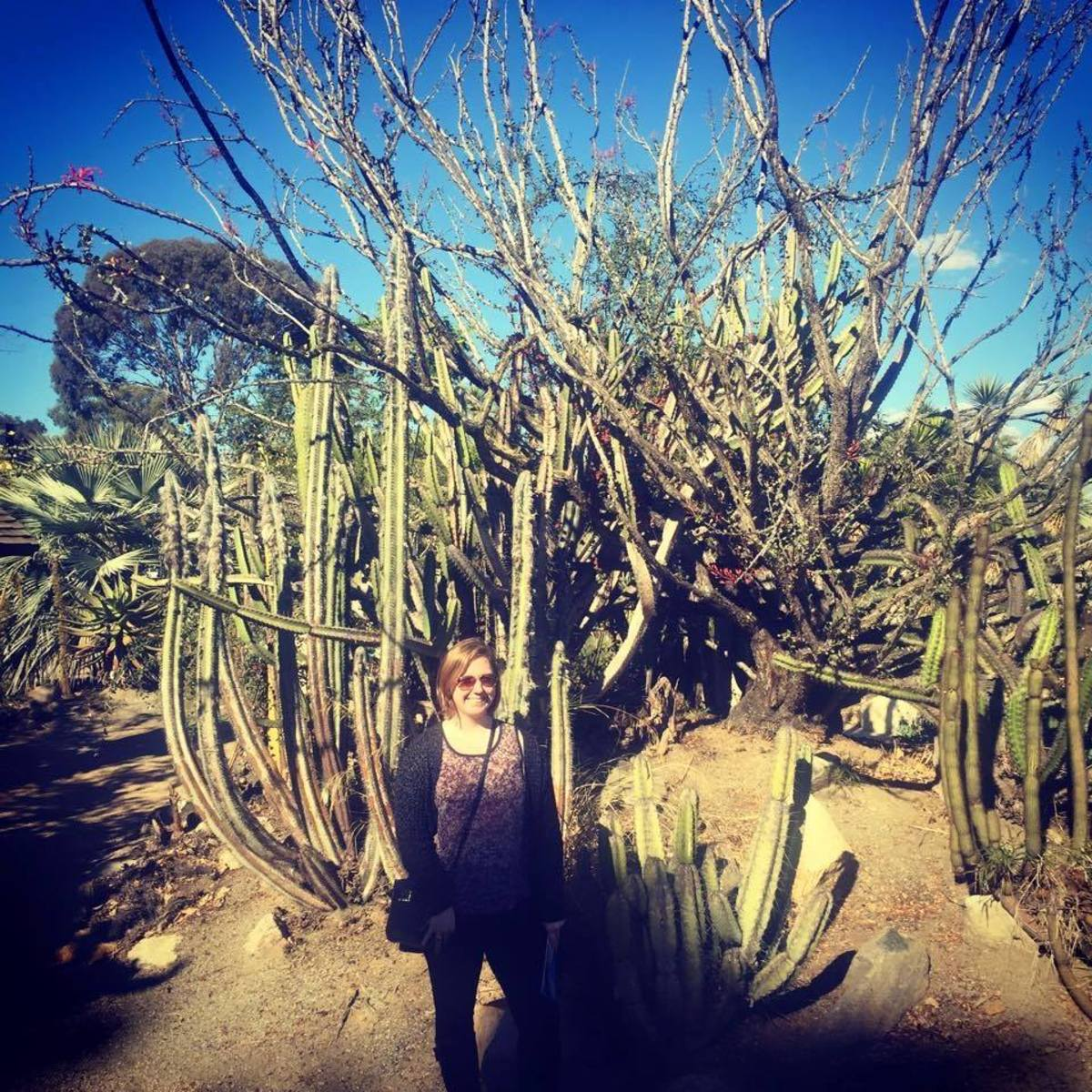 Here I am in the desert garden.