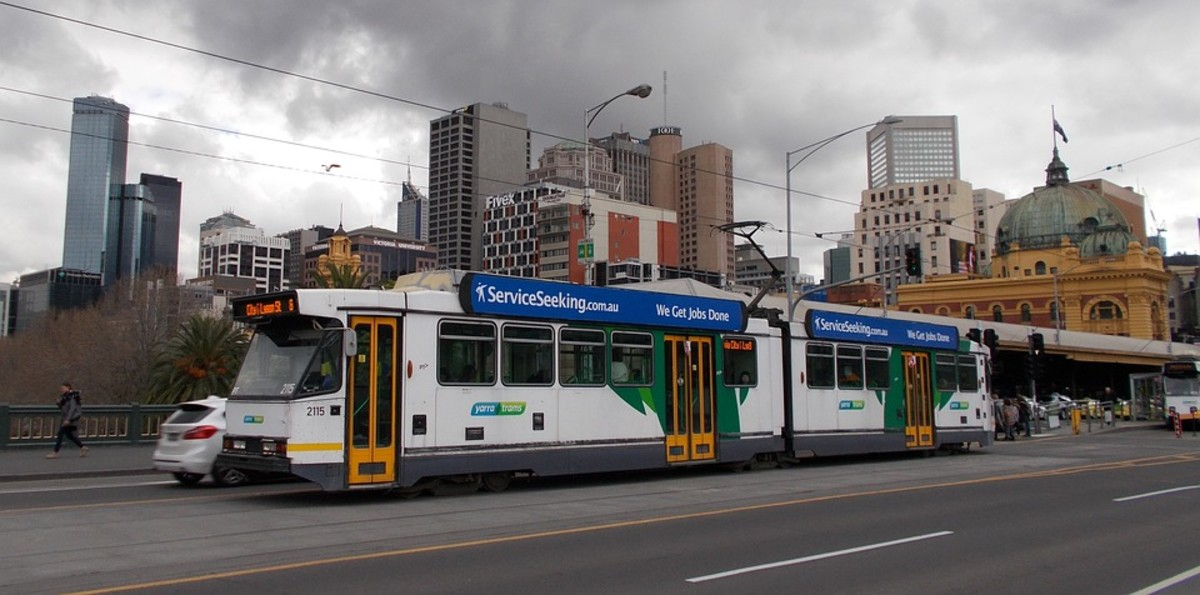 Melbourne is famous for trams - and bad weather!