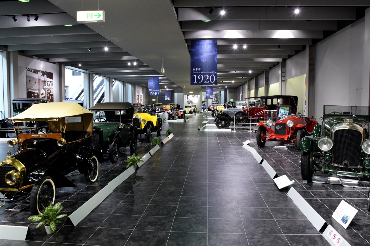 Vintage cars inside the museum