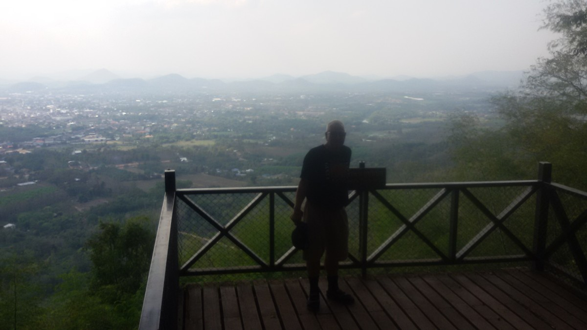 View of Loei 200 meters from the peak of Phu Bot Bit