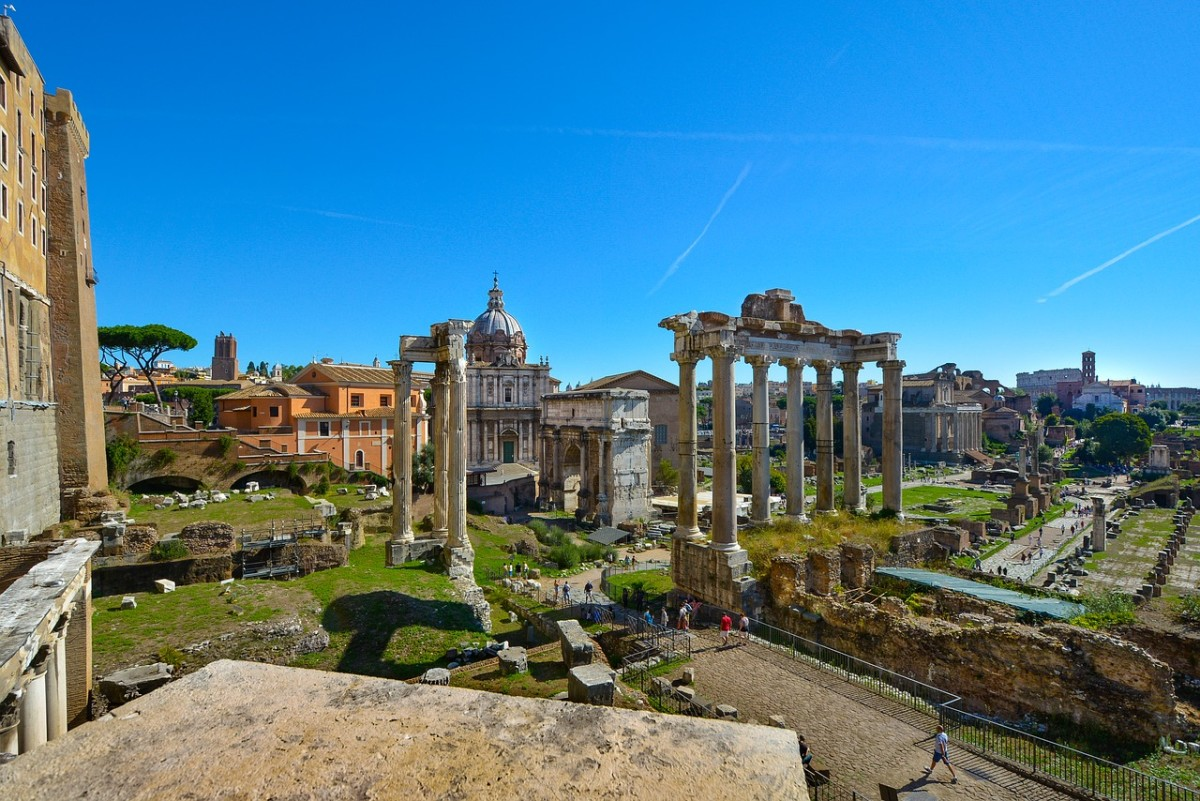 I've added a photo of the Forum rather than the obvious choice of the Colosseum, because while the Colosseum is all right, the Forum is where the really good nerd action is.