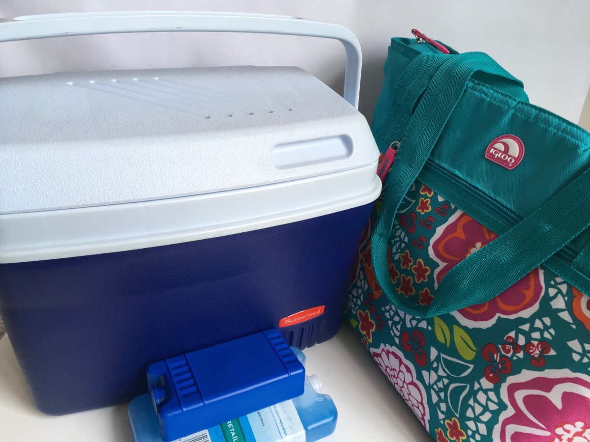 Bring a cooler or cooler bag on your road trip to keep your beverages and perishables cold.