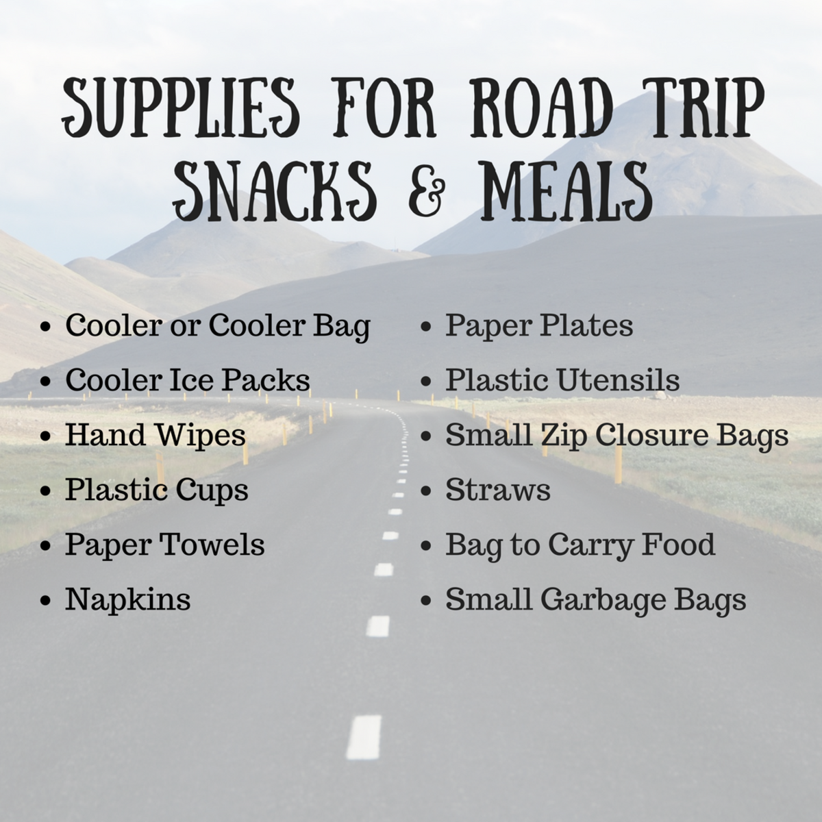 Here are some helpful items to bring for eating on the road.