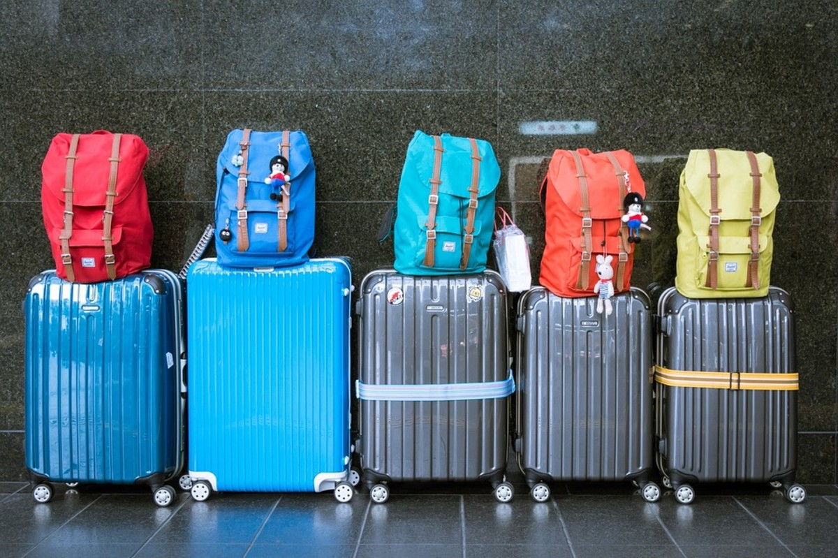Personally, I feel one suitcase and one daypack is the ideal arrangement for solo traveling. Ensure you use a daypack that's not easily opened, though.