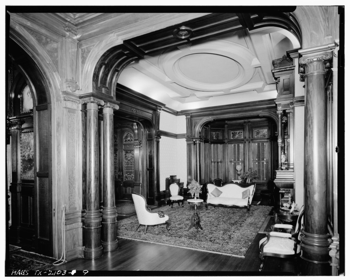 INTERIOR VIEW OF PARLOR - Colonel Walter Gresham House, 1402 Broadway, Galveston, Galveston County, TX