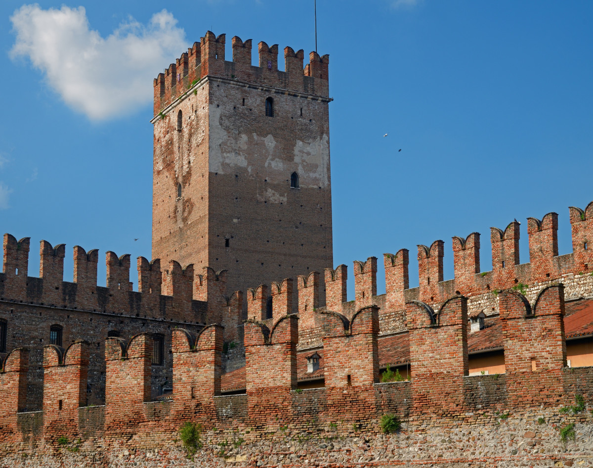 Walls and Tower of Verona's Castelvecchio