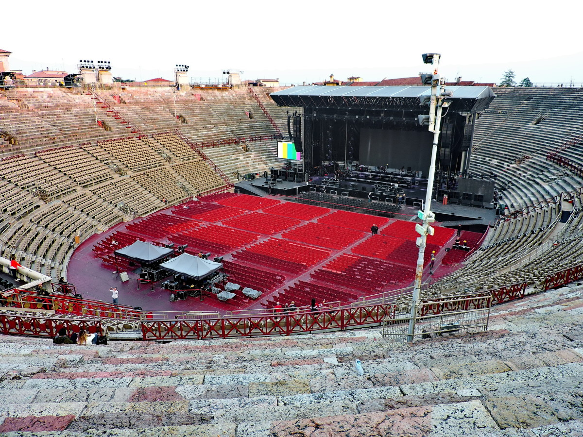 The Arena di Verona Getting Ready for a Concert