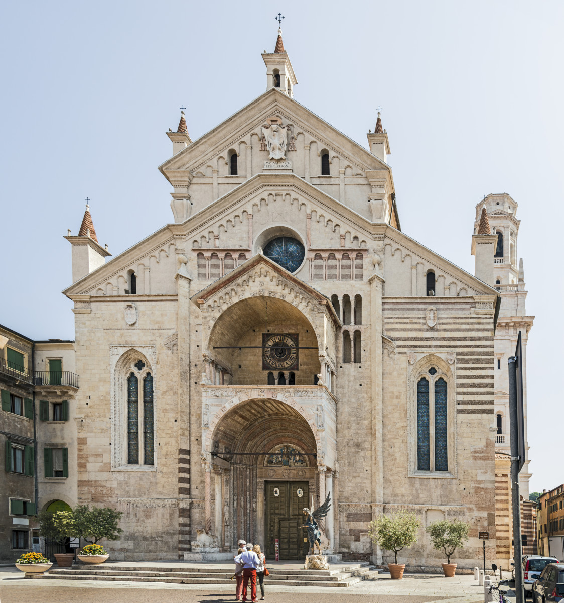 Exterior of the Duomo in Verona