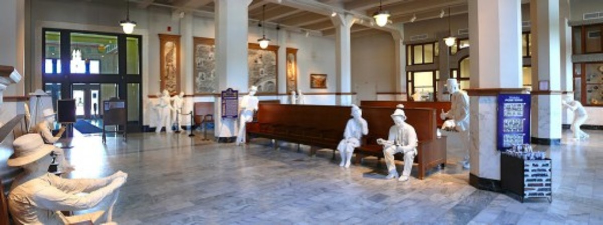 Originally the Santa Fe Union Train Station -- Now a Museum in Galveston, Texas