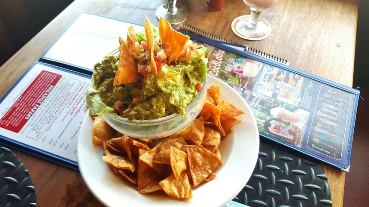 The chips & guacamole appetizer