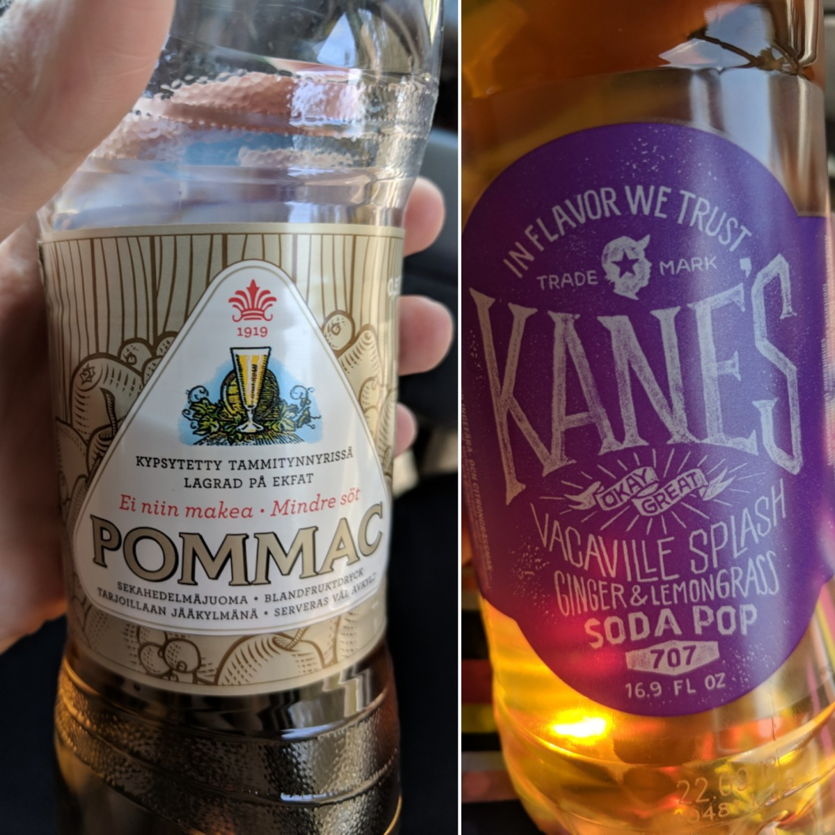 "Pommac and Kane's ""California Style"" sodas."