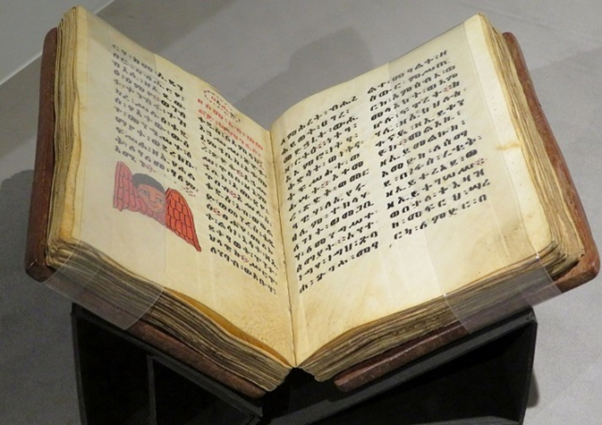Ethiopian New Testament 13th century C.E. Parchment, ink, and sewn boards