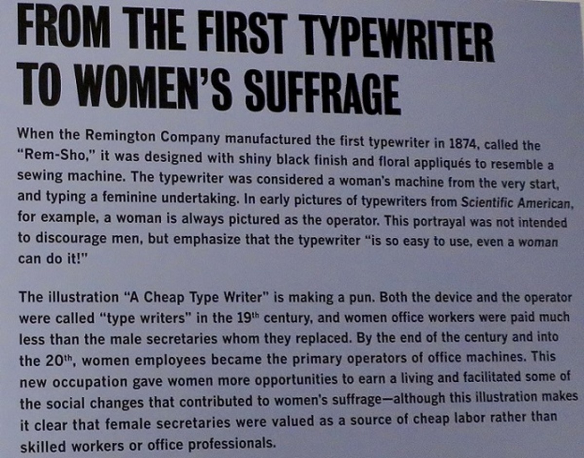 About typewriters and women's suffrage
