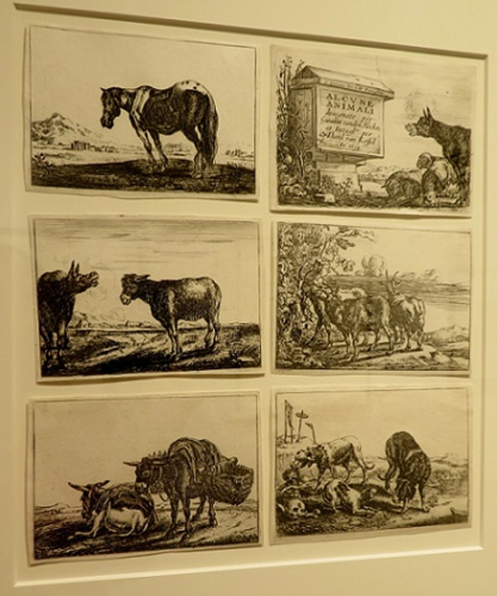 Animals, c.1654, Theodore van Kessel (Dutch, 1620-1660) after Jan van den Hecke (1620-1684) Etching