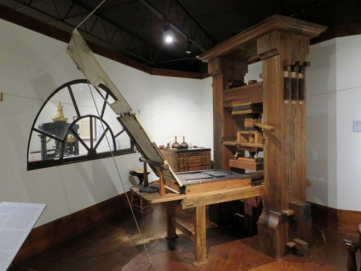Gutenberg Press (reproduction) at The Printing Museum