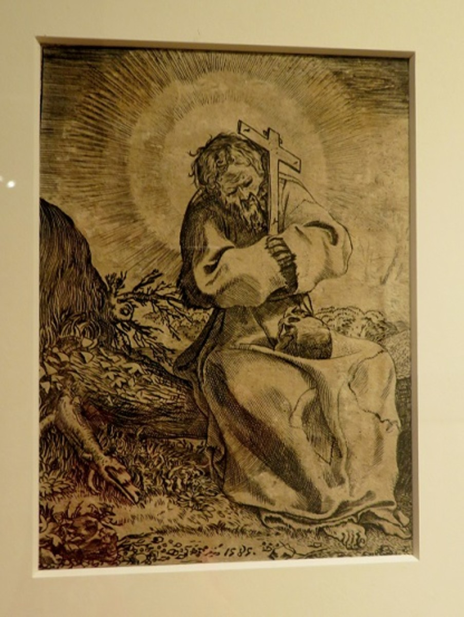 Saint Francis of Assisi 1585 Annibale Carracci (Italian, Bologna 1560-1609 Rome) Engraving