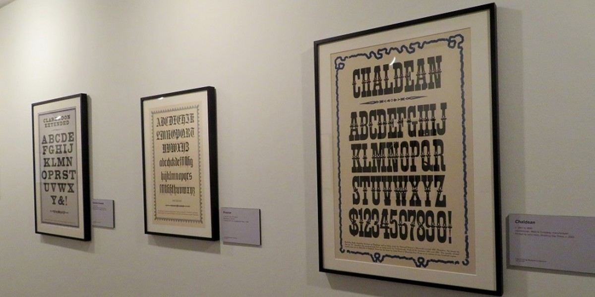 Specimens of historic wood type printed by John Horn at Shooting Star Press in Little Rock, Arkansas - Temporary Exhibit