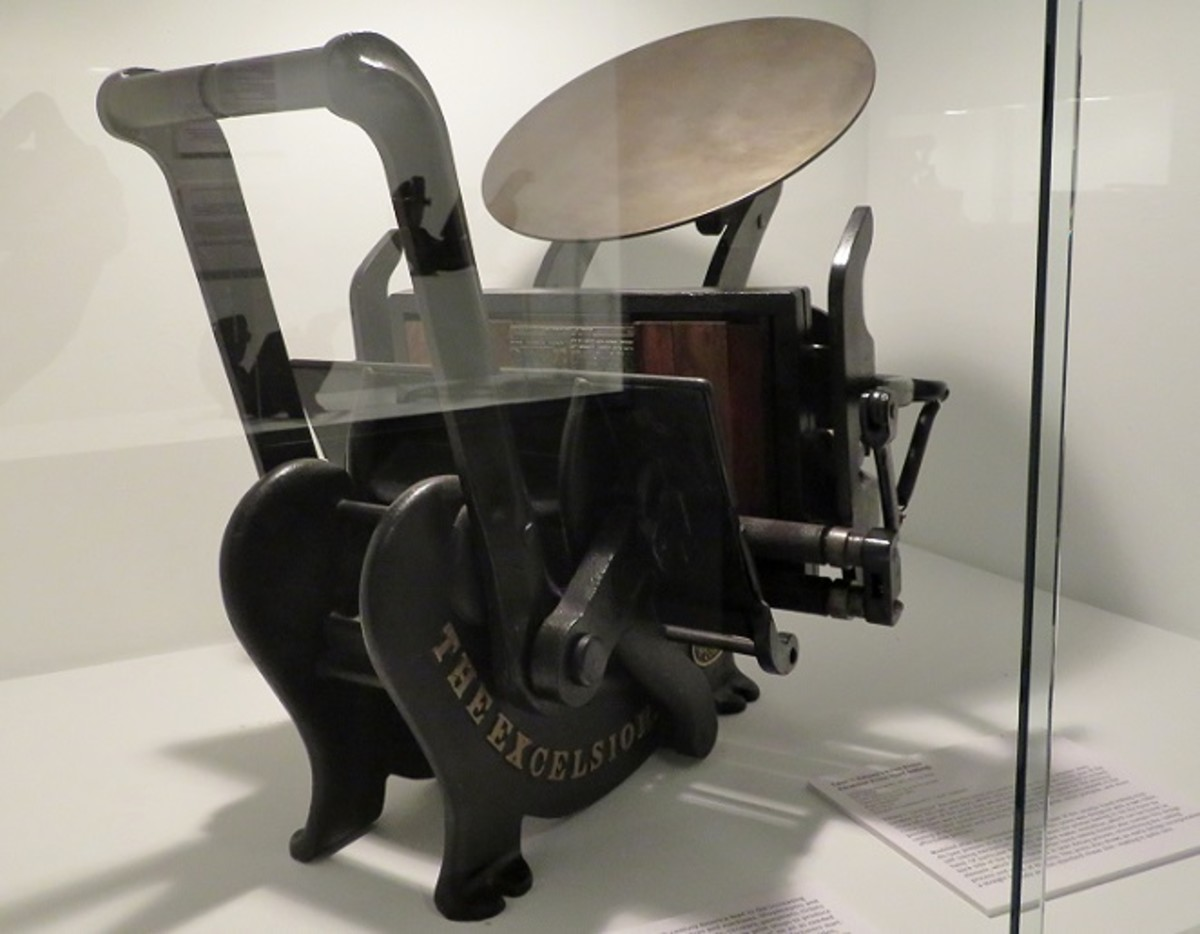 One of  many Miniature Hand-inking Presses on Display
