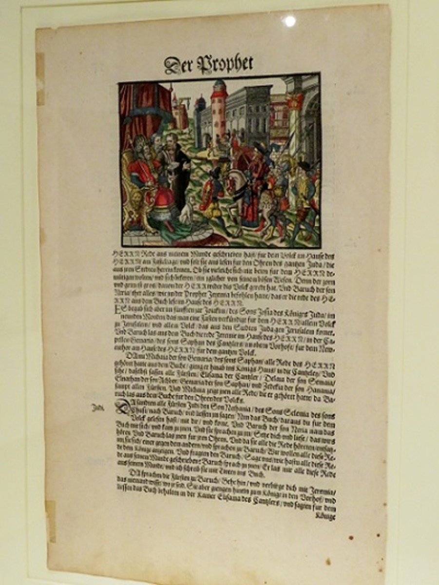 Leaf from Luther's Bible 1576 Wittenberg, Germany Hans Krafft, printer (German, died 1578)