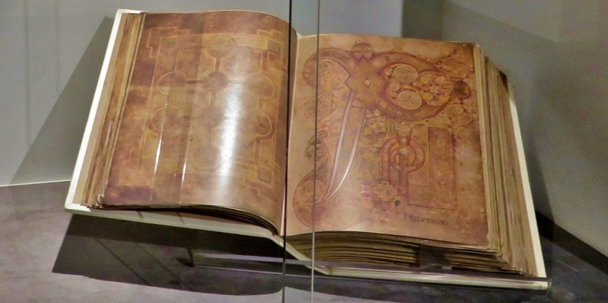 The Book of Kells (facsimile) Early 9th Century A.D. Colored ink on Vellum