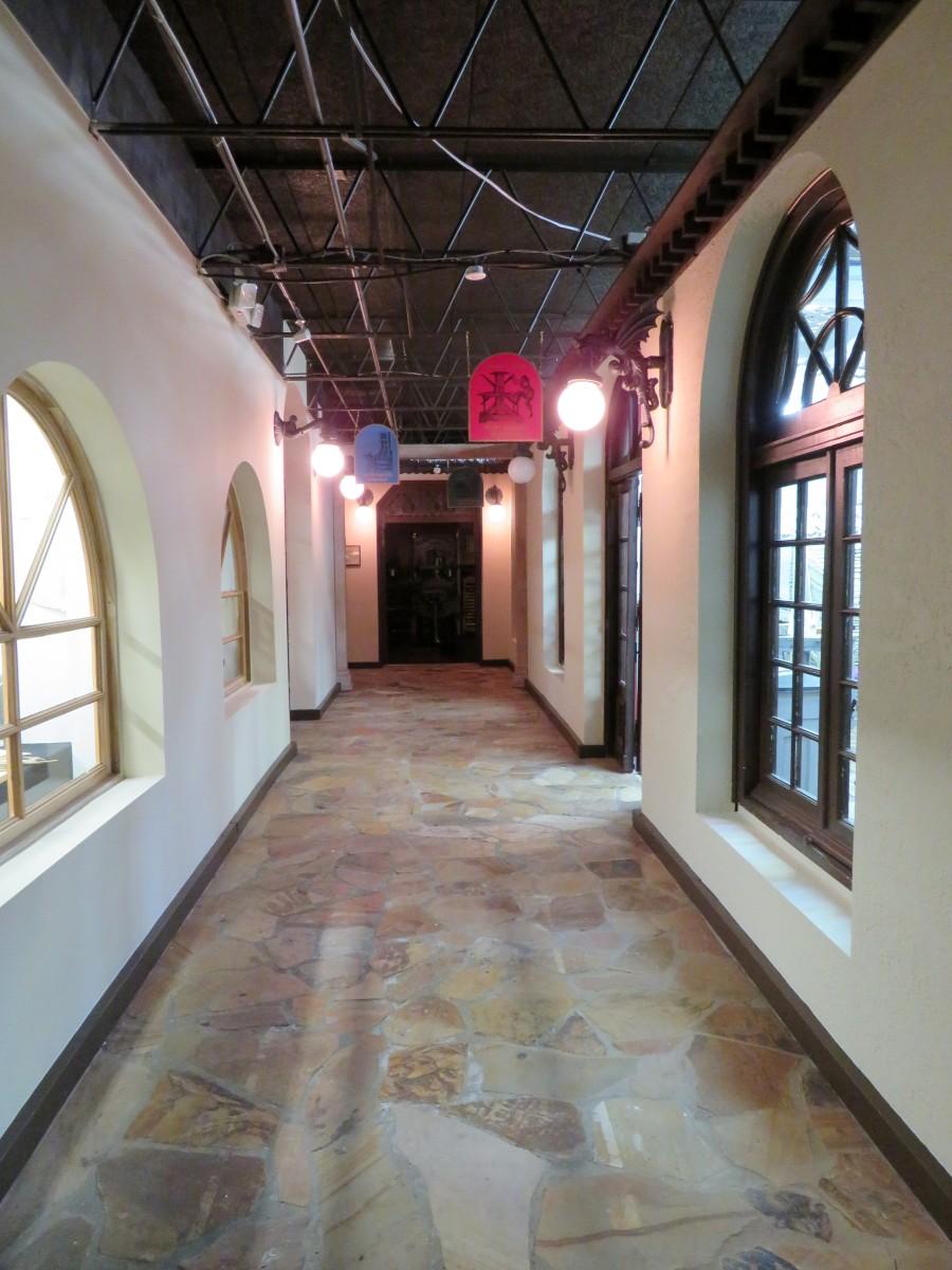 Hallway to studios