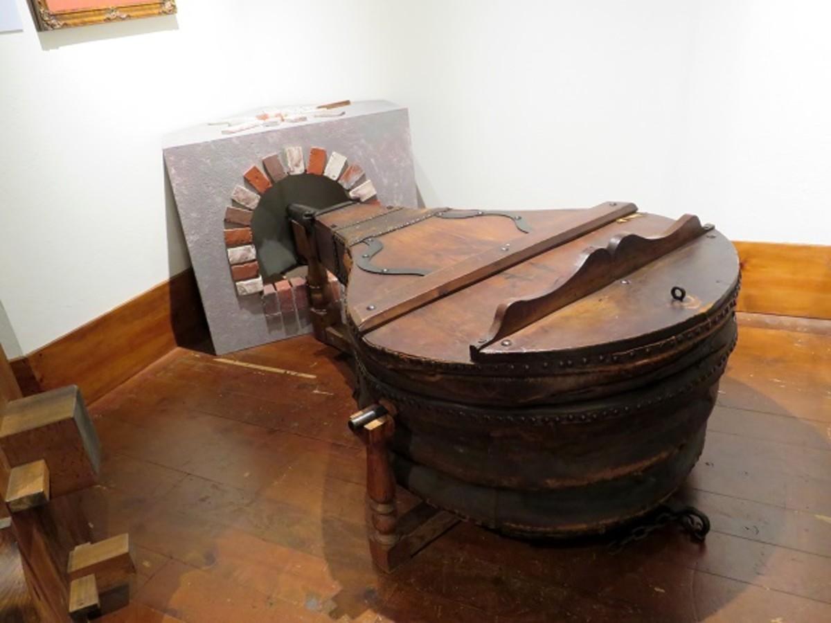 Bellows display near the Gutenberg Press