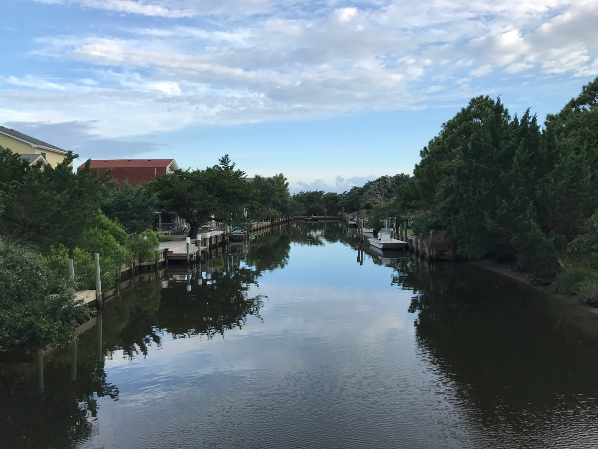 Waterways are one of the things you'll find when exploring Ocracoke Island.
