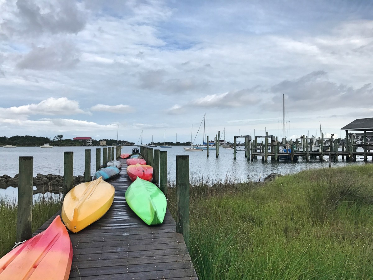 Rent a kayak and paddle around Silver Lake, otherwise known as the Ocracoke Harbor.