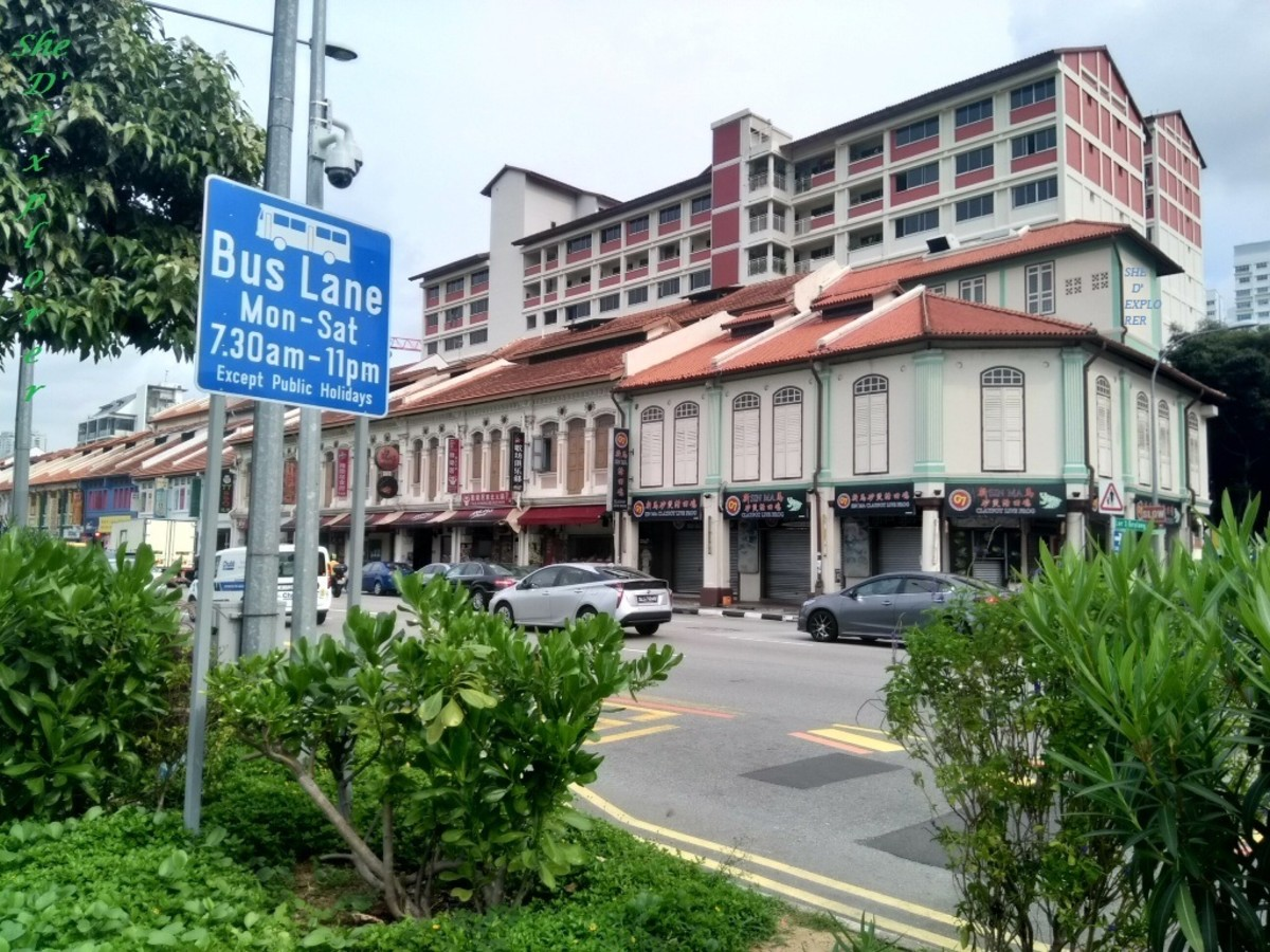 Old preserved structures in Geylang area