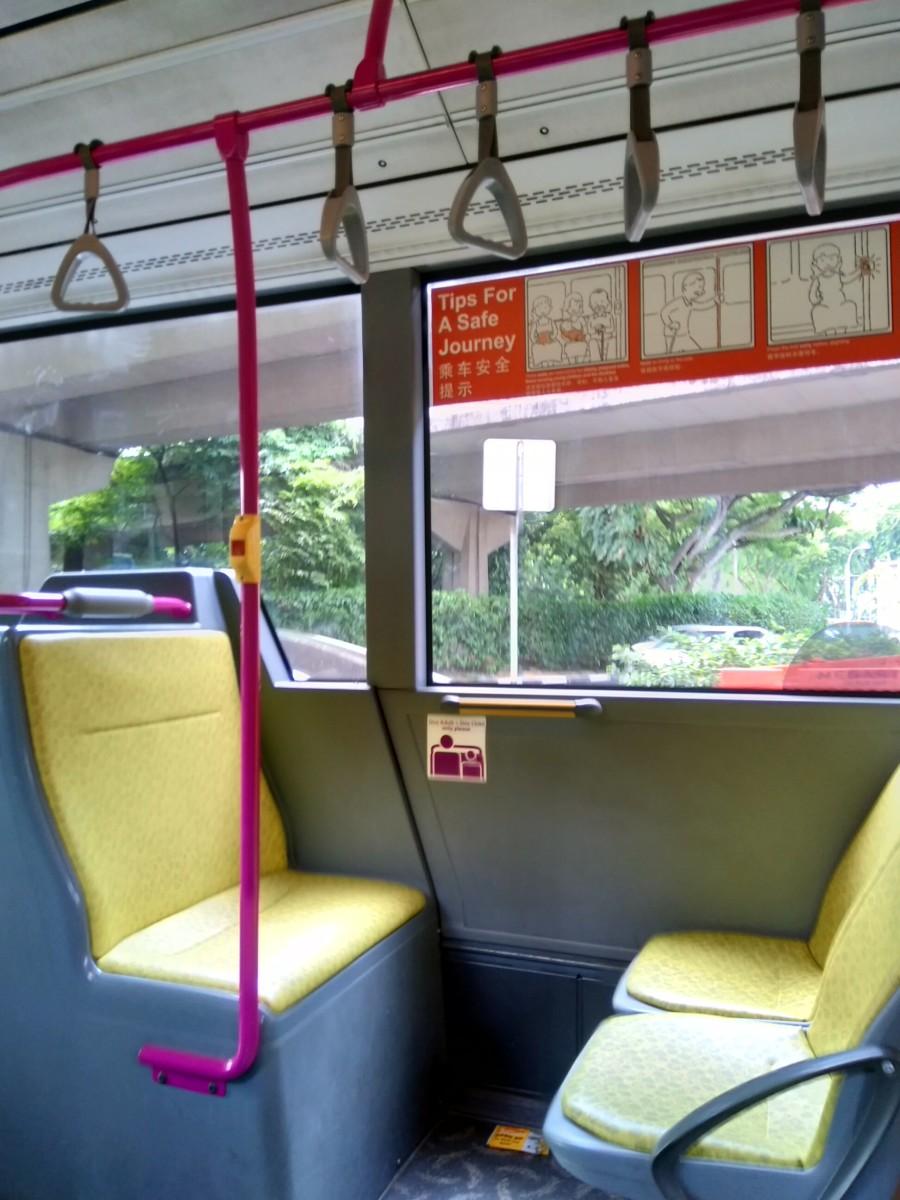 Inside a typical Singaporean bus