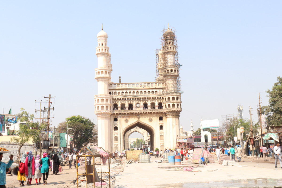 Charminar - the monument was under renovation, but still glorious and beautiful in its magnificence.