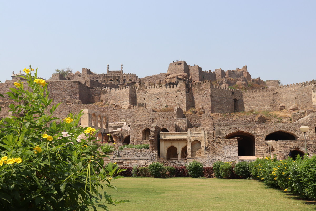 Golconda fort - the area is famous for its diamond mines