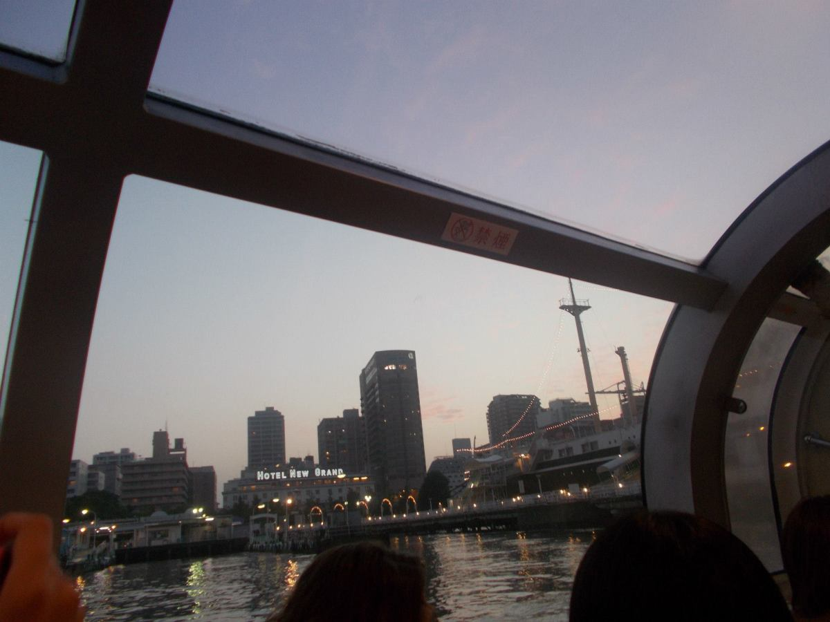 A view of Yokohama from a boat. You can take excursions around the bay!